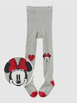 12 18 24 M BABY GAP Kids Disney Gray Red Minnie Mouse Tights