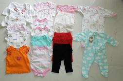 18 BABY GIRL CLOTHES ONE PIECE TIGHTS/BOTTOM TOP for 0-3, 3,