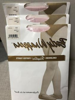 3 PAIR NEW C20 Body Wrappers total wrapture footed tights Ch