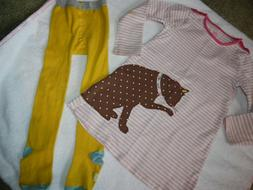 Mini Boden Baby Boden Girls 2T 3T CAT Applique Dress and Tig
