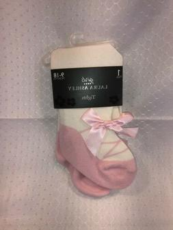 Laura Ashley Baby Girl Infant Toddler Tights Cream Color Pin