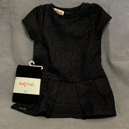 Juicy Couture Baby Girl Navy/Gold Dress and Tights Set Size