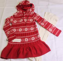 MAX STUDIO BABY Girls 4 Toddler PRETTY Red Sweater Knit DRES