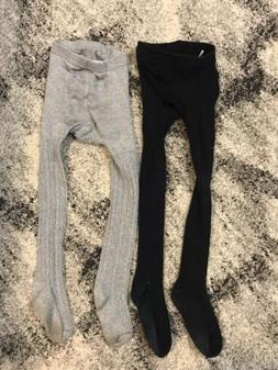 Children's Place Set Of 2 Tights Black And Grey Size 6-7 G