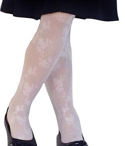 COUNTRY KIDS Girls Spring Floral Lace Footed Tights 1-10YR W