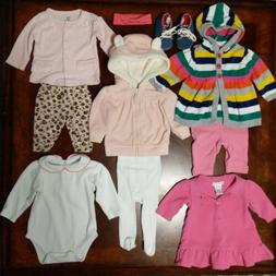 HUGE LOT Baby Girl's Clothes Sweater Pants Tights Bodysuit S