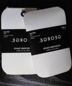 George Microfiber Tights 2 Pairs Size 4-6 New With Tags $2.9