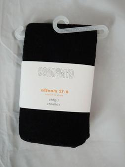 NEW Gymboree Baby Girls Black Tights Size 6-12 Months NWT