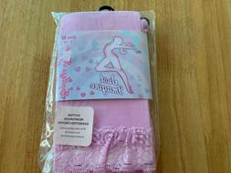 NEW JUST IMAGINE FOOTLESS TIGHTS SIZE 7 - 10  PINK NYLON SPA