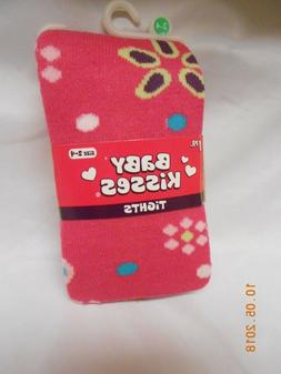 NEW Baby Kisses pink thick tights size 2-4 toddler Girls Sto