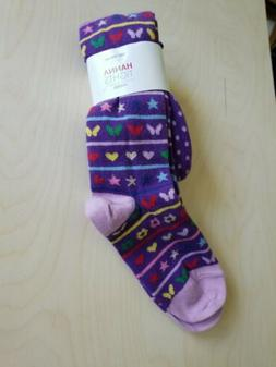 NWT HANNA ANDERSSON PURPLE HEART STAR BUTTERFLY FOOTED TIGHT