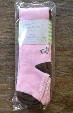 BabyLegs Sweetie Tights - Pink and Brown - 2T-4T