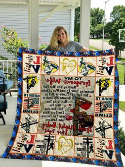 The Lineman To My Wife Love Husband Quilt Blanket Good Night