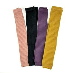 Toddler Girls Cotton Solid Ribbed Casual Footless Tights Sto