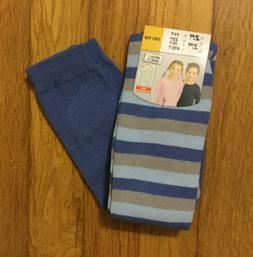 Toddler's WARM BLUE STRIPED TIGHTS - Size: 5-6 Years  - NE